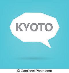 kyoto, burbuja del discurso