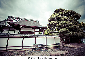 Kyoto, garden and temple