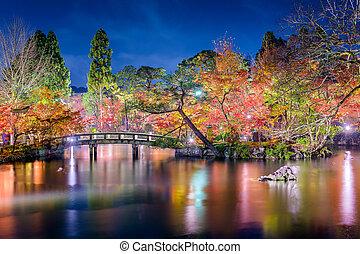 Kyoto Garden Autumn Night