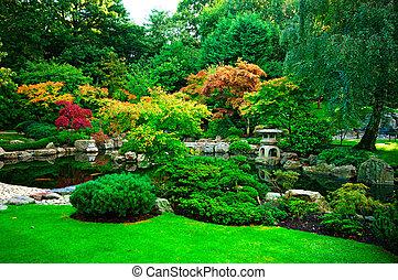 Japanese Garden in Holland Park, London