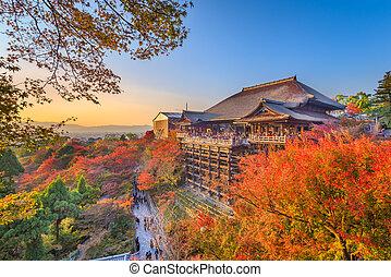 Kyoto, Japan at Kiyomizu-dera Temple during autumn season.