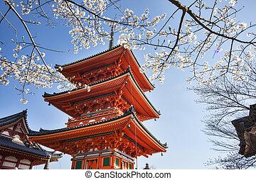 Kiyomizu-dera in Temple Kyoto - Kyoto, Japan - March 28,...