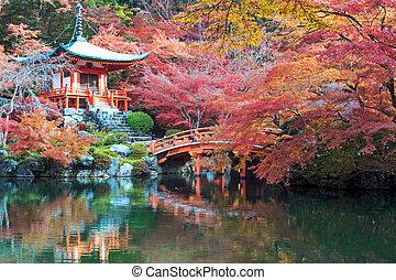 Kyoto, Japan - November 24, 2013: Daigo-ji is a Shingon Buddhist temple in Fushimi-ku, Kyoto, Japan