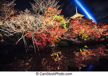 Kiyomizu-dera Temple Gate in Kyoto, Japan - Kyoto, Japan -...