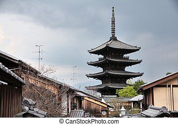 Kyoto, Japan - Yasaka pagoda. Part of UNESCO World Heritage ...