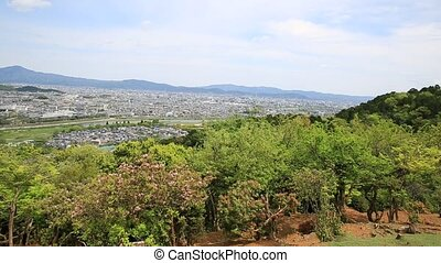 Kyoto skyline Arashiyama - Kyoto skyline spectacular aerial ...