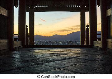 kyoto, templo, vista