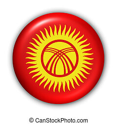 World Flag Button Series - Asia - Kyrgystan (With Clipping Path)