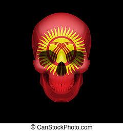 Kyrgyz flag skull