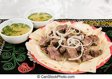 Kyrgyz national meat dish
