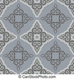 Kyrgyz pattern. Traditional national pattern of Kyrgyzstan. Texture pattern peoples of Central Asia. Ethnic national pattern for fabrics