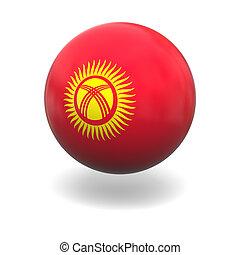 Kyrgyzstan flag - National flag of Kyrgyzstan on sphere ...