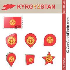 Kyrgyzstan Flag Set, Flag Set #148