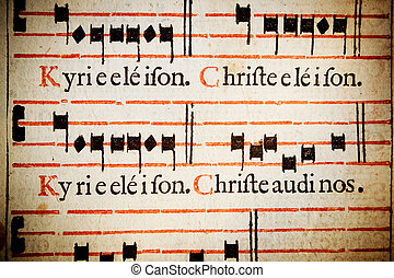 Kyrie Eleison. Christe eleison: Lord have mercy, Christ have...