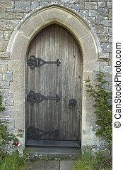 kyrka, dörr