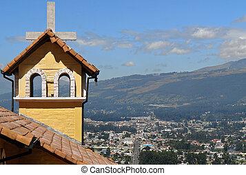 kyrka, in, mountains