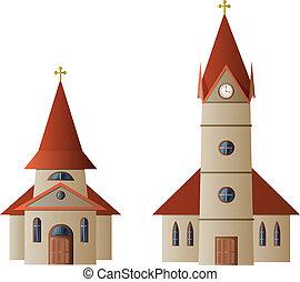 kyrka, och, kapell