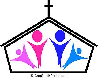 kyrka, troende