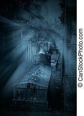 kyrkogård, grav