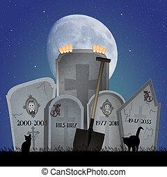 kyrkogård, gravstenar