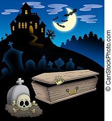kyrkogård, hemsökt hus