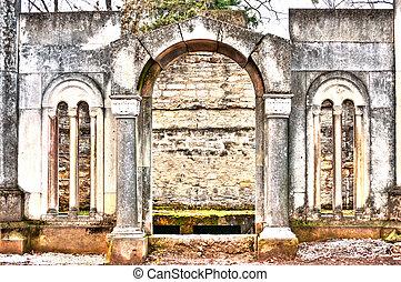 kyrkogård, monument
