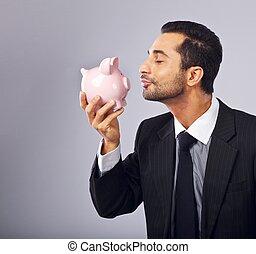 kyssande, styrelse, bank, mynt, stilig