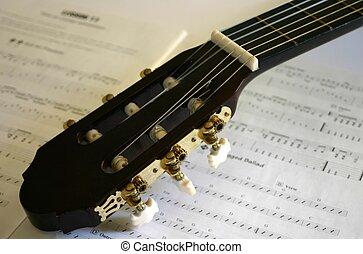 kytara, hudba