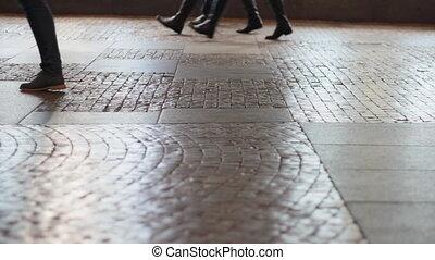 lábak, gyalogló, útburkolat