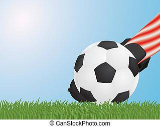 lábfej labda, futball, csapó