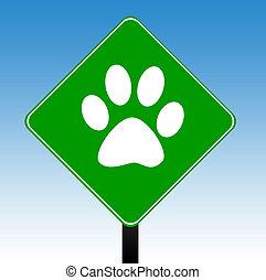 lábnyom, állat, aláír