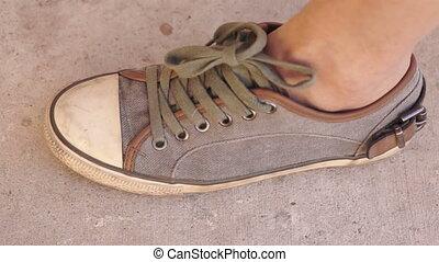 lábnyom, kilépő, mexikó, megjelöl