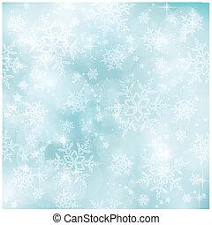 lágy, és, elmosódott, pasztell, kék, tél, karácsony, motívum