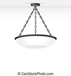 lámpa, vektor, elszigetelt