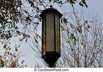lámpara, calle
