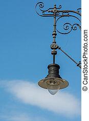 lámpara, calle, viejo, clásico