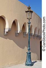 lámpara, calle, viejo