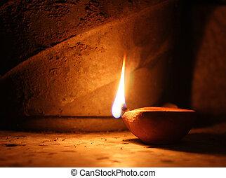 lámpara del aceite