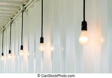 lámpara, eléctrico