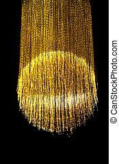 lámpara, fibra óptica