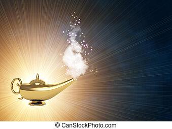 lámpara, magia