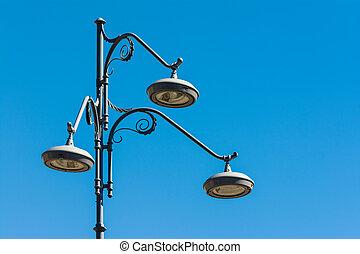 lámpara, moderno, calle