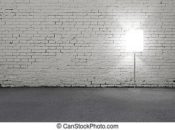 lámpara, piso