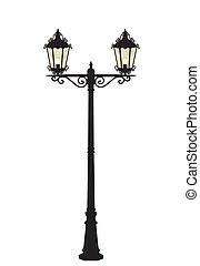lámpara, vector, calle
