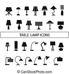 lámparade mesa, vector
