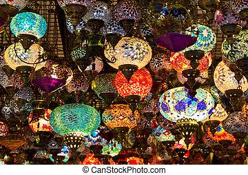lámparas, turco