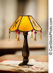 lámparas, viejo, detalle