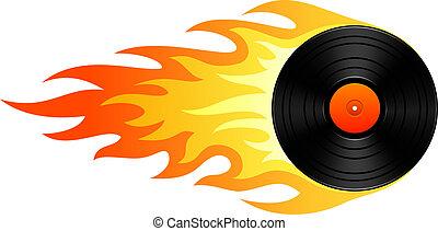 lángoló, vinyl