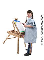 lány 1, festmény