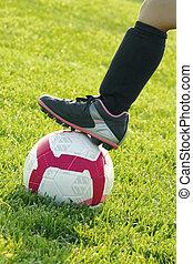 lány, futball